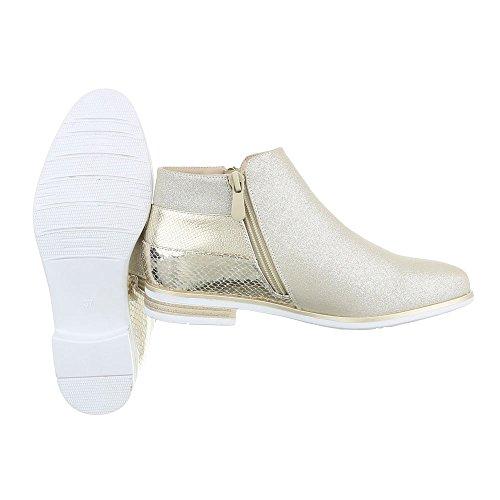 Ital-Design - Botas Chelsea Mujer dorado
