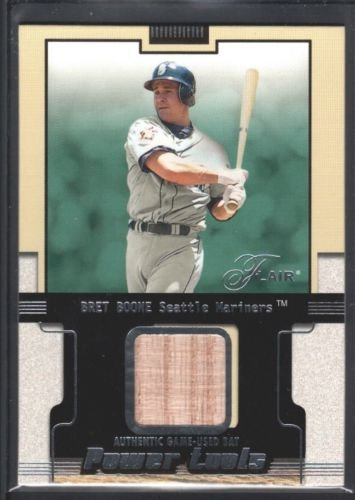 BRET BOONE 2002 FLAIR POWER TOOLS GAME USED BAT SEATTLE MARINERS SP $12