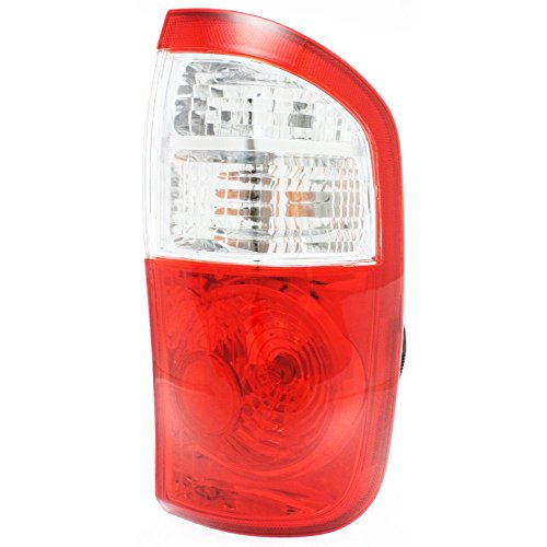 Tail Light Compatible with Toyota Tundra 04-06 Assembly Clear/Red Lens W/Standard Bed Double Cab Right Side ()