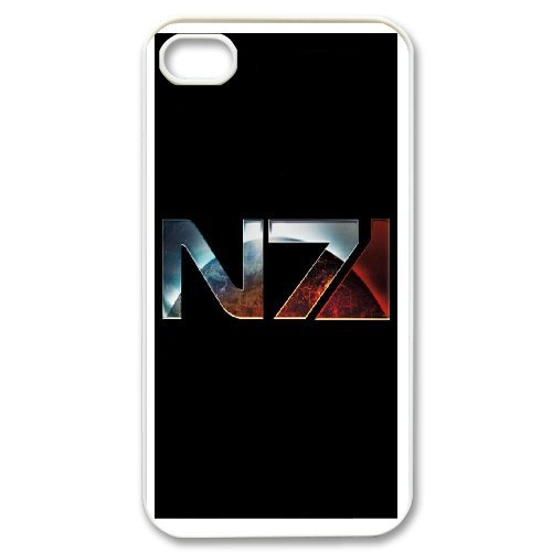 Mass Effect N7 Phone Case And One Free Tempered-Glass Screen Protector For iPhone 4,4S T257936