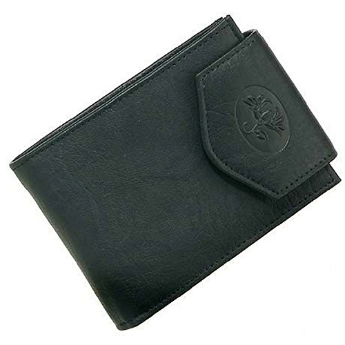 Buxton Cowhide Wallet - Buxton Heiress Convertible Billfold - Black