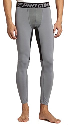 Nike Mens Pro Hyperwarm Compression Tights - Grey/Black -...