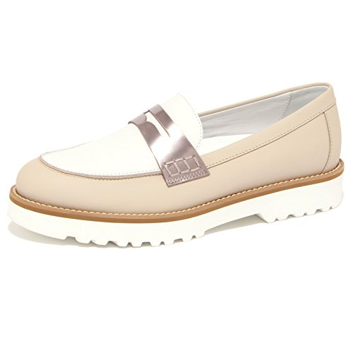 bianco beige scarpa donna mocassino woman 1524Q HOGAN ROUTE shoe OZwxIPXtqX