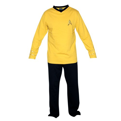 Star Trek Adult Officer Uniform Pajama Set (Medium, Command (Star Trek Pajamas For Adults)