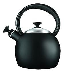Copco 1-1/2-Quart Enamel on Steel Camden Tea Kettle, Black