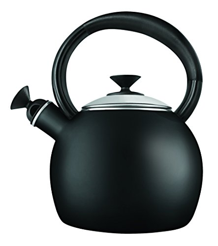 en Enamel-on Steel-Tea Kettle, 1.5-Quart, Black (Loop Tea Kettle)