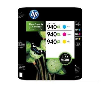 HP 940XL 3 Color Combo Officejet Ink cartridges CYAN, MAGENTA, /& YELLOW