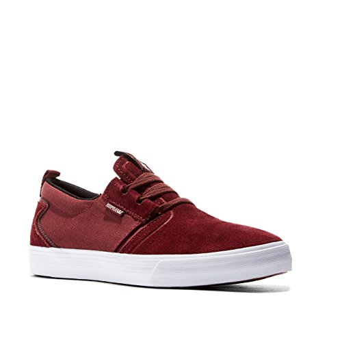 Supra Mens Flow Burgundy White Skate Shoes
