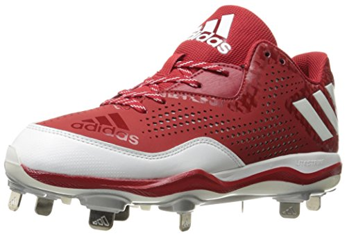adidas Men's Freak X Carbon Mid Softball Shoe, Power Red/White/Silver Metallic, (8.5 M US) by adidas