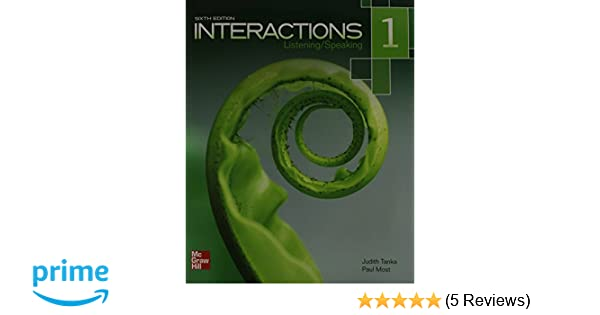Interactions listeningspeaking level 1 student book plus interactions listeningspeaking level 1 student book plus registration code for connect esl judith tanka paul most 9780077831004 amazon books fandeluxe Gallery