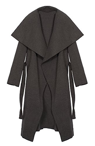 long Kendindza Long One Gris court Collection et Femme Trenchcoat Size Manteaux wwAFYq