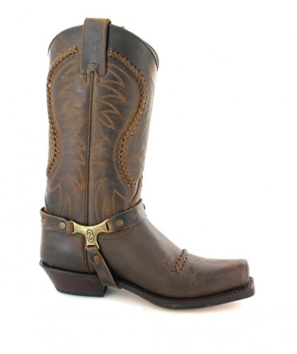 Sendra Boots 3434, Bottes Motardes mixte adulte Marron - Tangerine