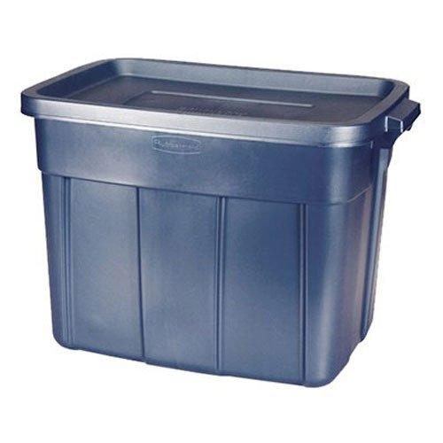 RUBBERMAID Storage Tote, 18 gallon, Dark Blue