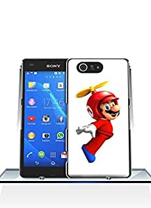 Super Mario Sony Z3 Compact Funda Case, Game Customized Solid Plastic Durable Rugged Anti Dust Fit for Sony Xperia Z3 Compact (Only For Sony Z3 Compact)
