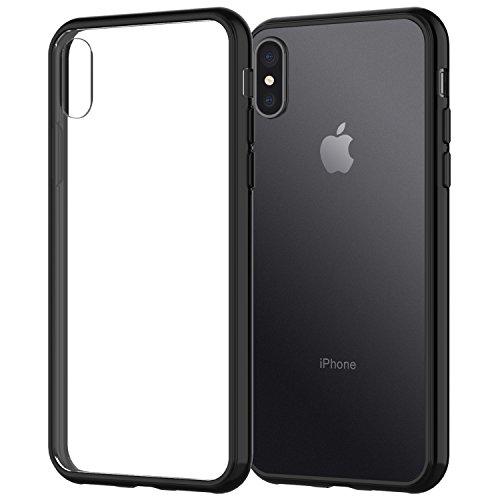 """iPhone X Hülle, JETech Apple iPhone X Hülle Tasche Schutzhülle Case Cover Bumper und Anti-Scratch Löschen Back für iPhone X 5.8"""" (Schwarz)"""