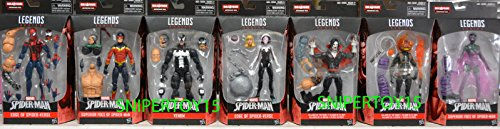 Marvel Spider-Man Infinite Legends Wave 03 - Set of 7 with Absorbing Man Build A Figure