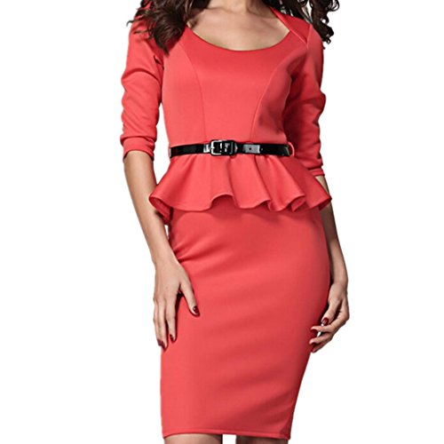 Buy belted peplum dress - 8