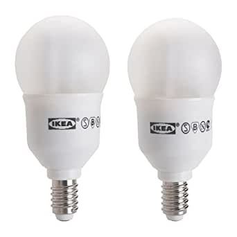 Ikea Sparsam Low Energy E12 7 Watt Bulb - Set of 2