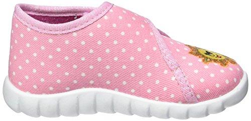 Fischer Flexi - Zapatillas de casa Bebé-Niños rosa (Rose)