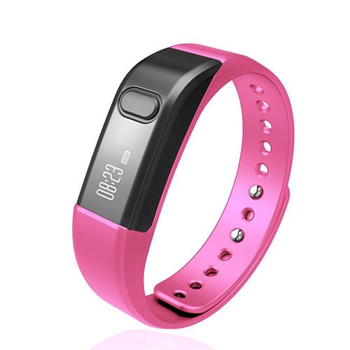 Fitness Tracker Activity Tracker,Shonco I5 S Bluetooth Smart Bracelet Sports Wristband Fitness Bracelet with Pedometer Health Sleep Monitor for iPhone IOS7.0 above/ Android 4.3 above Phone - Pink