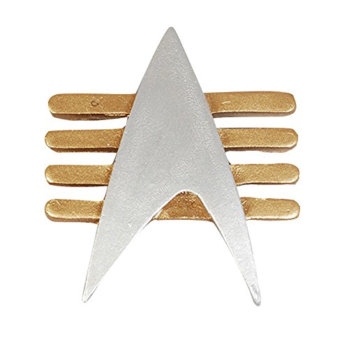 Communicator Badge (Star Trek Starfleet Captain Badge Combadge Rank Pip Pin Insignia Brooch)