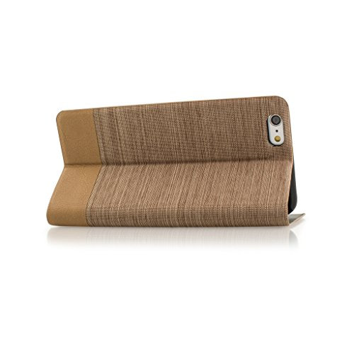 Good Style Apple iphone 5s Case cover, Apple iPhone 5s Brown Twin Colour Fabric Style Wallet Case Cover