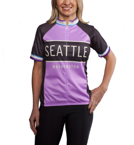 Classic Racer Seattle Cycling Jersey, Purple, Women's