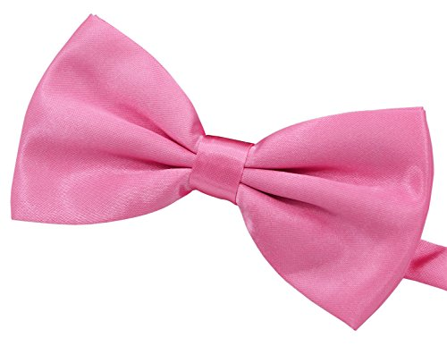 Amajiji Formal Dog Bow Ties for Medium & Large Dogs (D115 100% polyester) (Pink ) ()