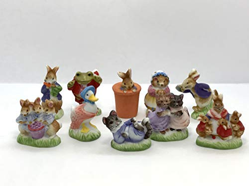 Tiny Beatrix Potter Peter Rabbit Figurines Dollhouse for sale  Delivered anywhere in USA