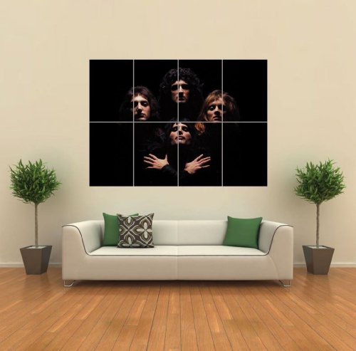 Queen Freddie Mercury Band Giant Wall Print Poster