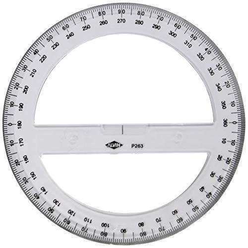 """Alvin Circular Protractor, 8"""" (P263)"""