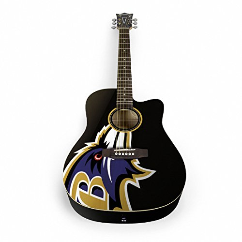 NFL Baltimore Ravens Nflacoustic Guitar - Baltimore Ravens, Black, One Size by sportsvault