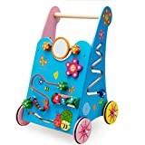 Meen Baby Walker, Boutique Wooden Multi-Function Children's Educational Preschool Toys Walker Walker