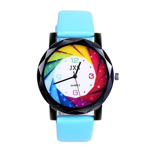 Wrist Watches, LuluZanm Women Fashion Luxury Leisure Set Auger Leather Steel Quartz Watch -
