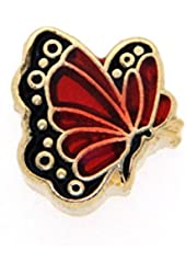 January Butterfly Enamel Birthmonth Charm for Floating Lockets