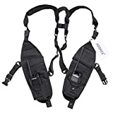 ABBREE Double Radio Pockets Shoulder Holder Harness Vest for Two Way Radio Baofeng UV-5R BF-F8HP Rescue Essentials (Color: PT-11, Tamaño: The biggest pocket size is 14.96inch * 4.9inch)