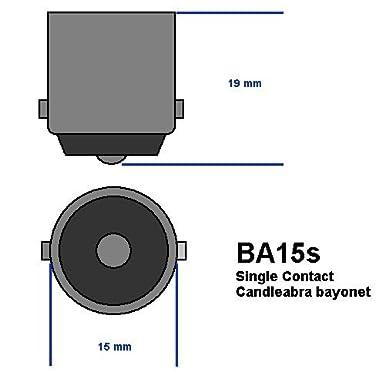 12.8V 1.04A S-8 SC Bayonet Base Light Bulb Pack of 10 Eiko 93-10 93