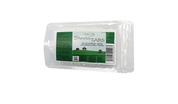 Amazon.com : Daforto Stevia Tabs Nachfüllpackung, 1000 Stück, 1er Pack (1 x 60 g) : Grocery & Gourmet Food