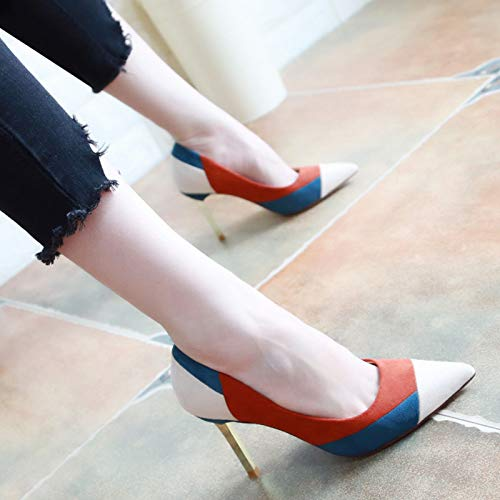 Shoes Single 9Cm Small Fresh Thirty Fashion Pink Sharp With High Autumn KPHY Shoe Women'S Head Heels Six q1ytUwEA7x