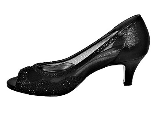 l2 Pour Sko's Black Femme Sandales nIqq6Op