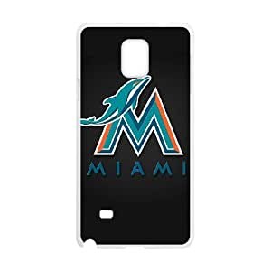 Miami Dolphins Samsung Galaxy Note 4 Cell Phone Case White 218y3-183015
