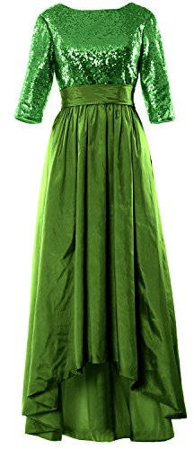 Green MACloth Sleeve Mother of Bride Dress the Evening 3 Women Low High 4 Gown Sequin 6qr6gtzw