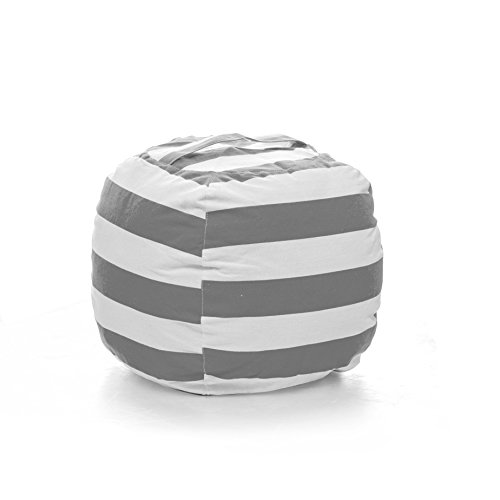 - PJS-MAX Storage Bean Bag Chair for Kids - Stuffed Animal Chair Storage Bag, Jumbo Size Perfect for Soft Toys, Clothes, Blankets. 5 Colors Available (Gray, Large)