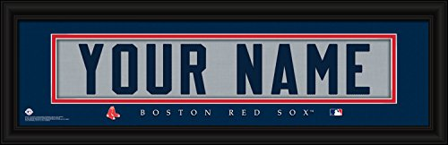 Boston Red Sox Personalized Nameplate MLB Framed and Customized 24x8 Inches Art Print