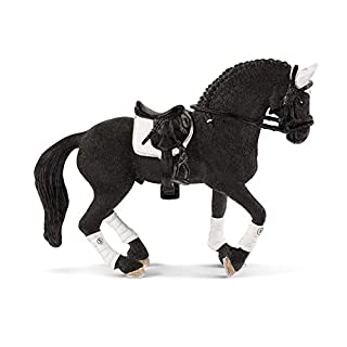 Schleich Horse Club Frisian Stallion Riding Tournament 3-Piece Educational Playset for Kids Ages 5-12