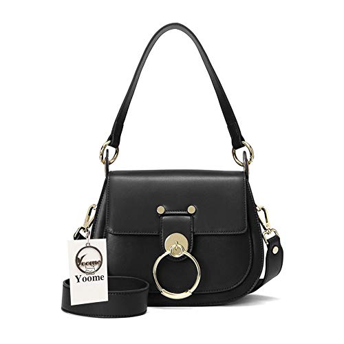 (Yoome Womens Crossbody Shoulder Handbags Cute Ring Purse Casual Saddle Clutch Ladies)