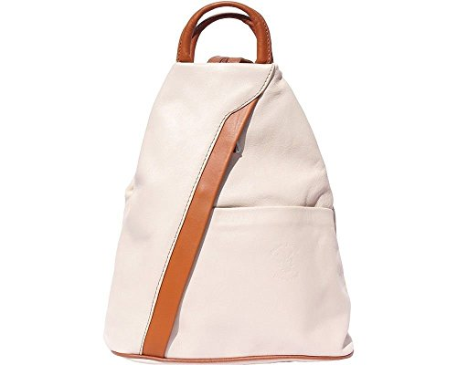 Leather Handcrafted 2061 Brown Tan Backpack Beige Florence Shoulder Italian in Dark amp; Italy Bag Awdxq8