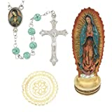 H Holly Lines Our Lady of Guadalupe Statue Rosary