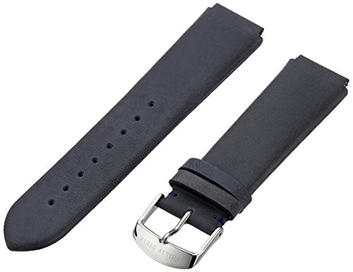 Philip Stein 2-CVOBL 20mm Leather Calfskin Blue Watch Strap