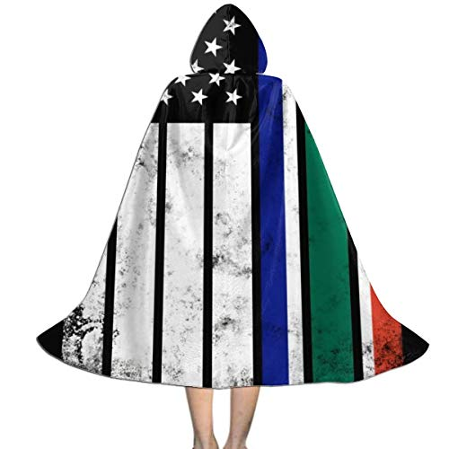 Decopik Children's Distressed South Africa American Flag Hooded Cloak Cape for Halloween Cosplay Party Costume